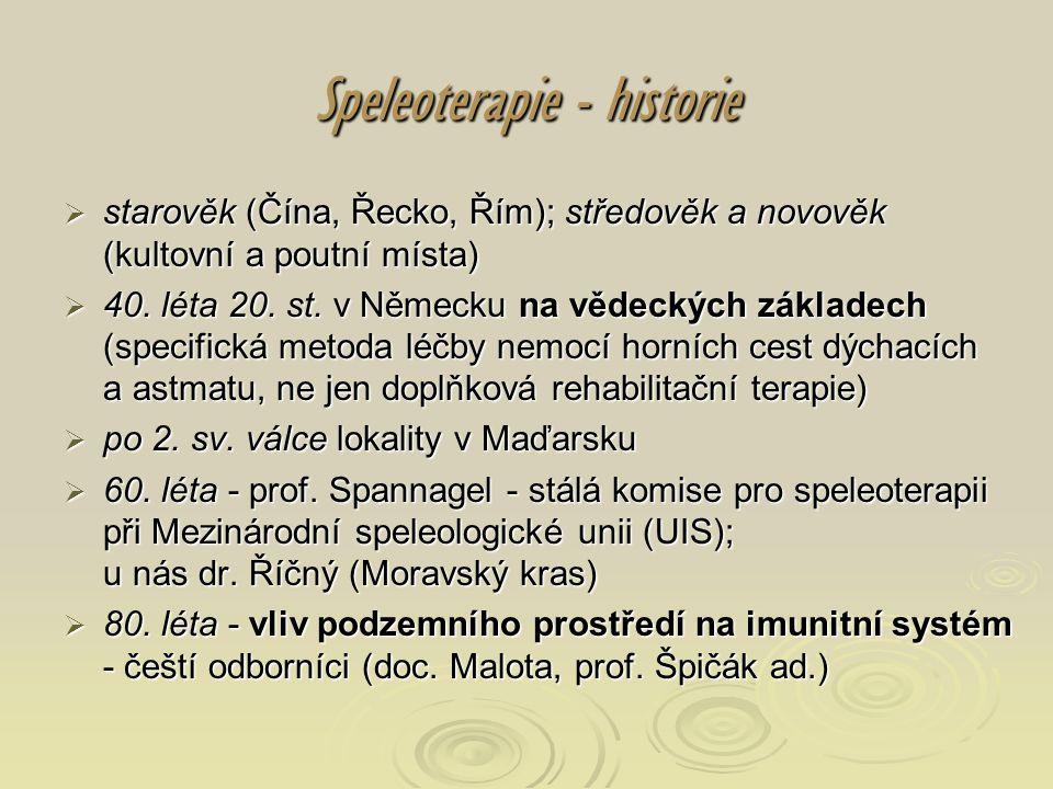 Speleoterapie - historie