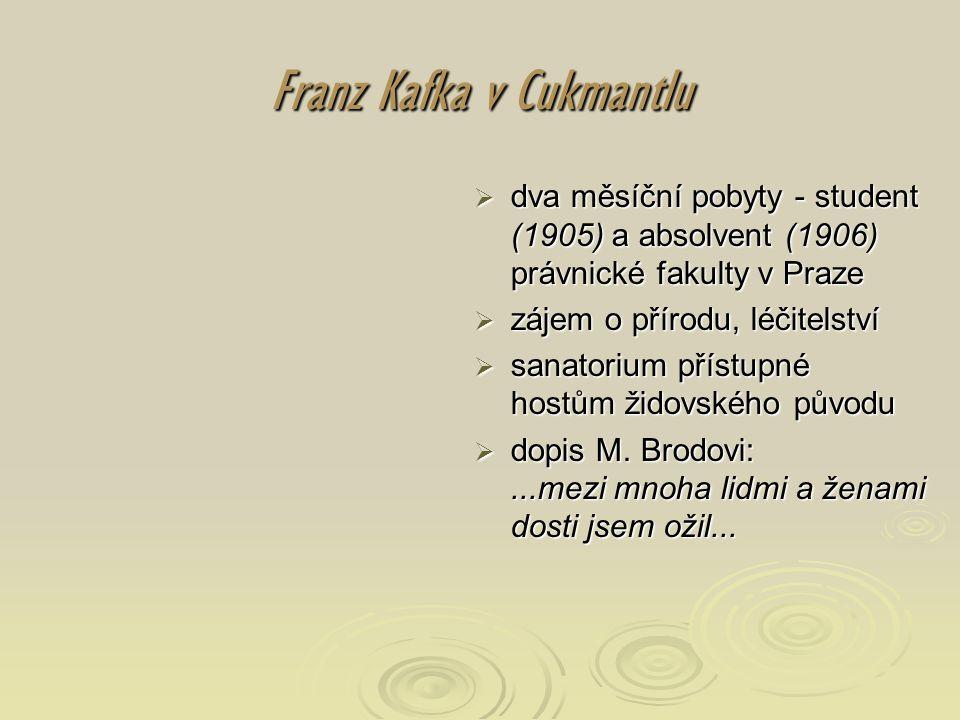 Franz Kafka v Cukmantlu