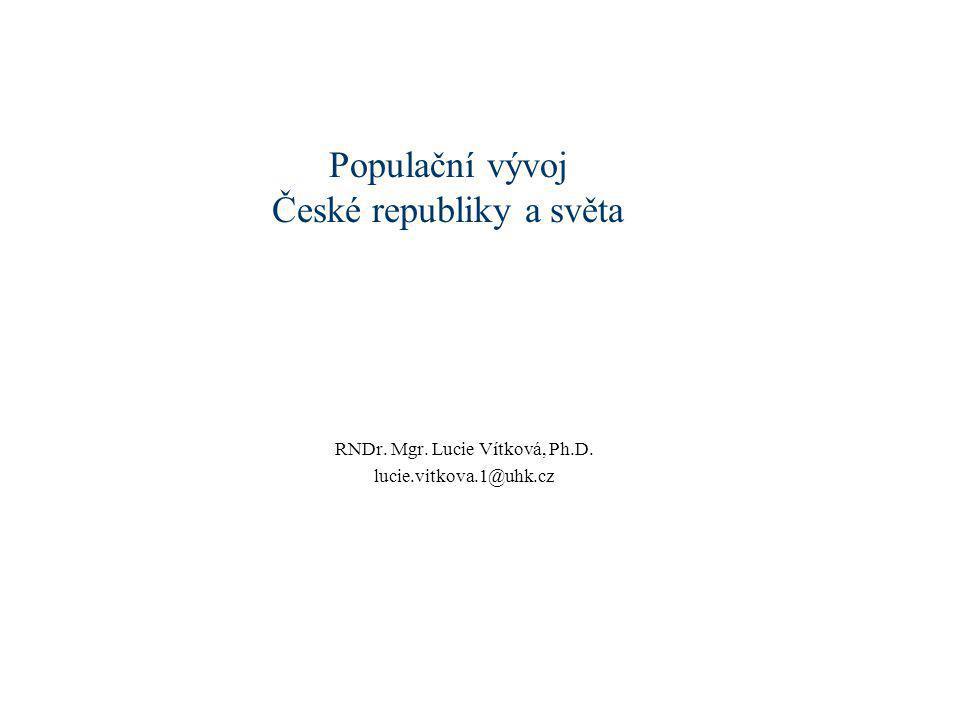 Populační vývoj České republiky a světa
