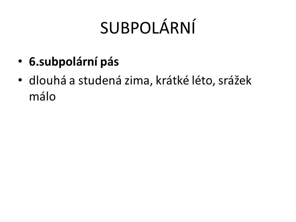 SUBPOLÁRNÍ 6.subpolární pás