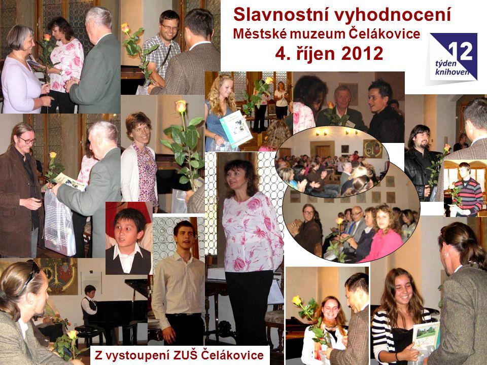 Slavnostní vyhodnocení 4. říjen 2012