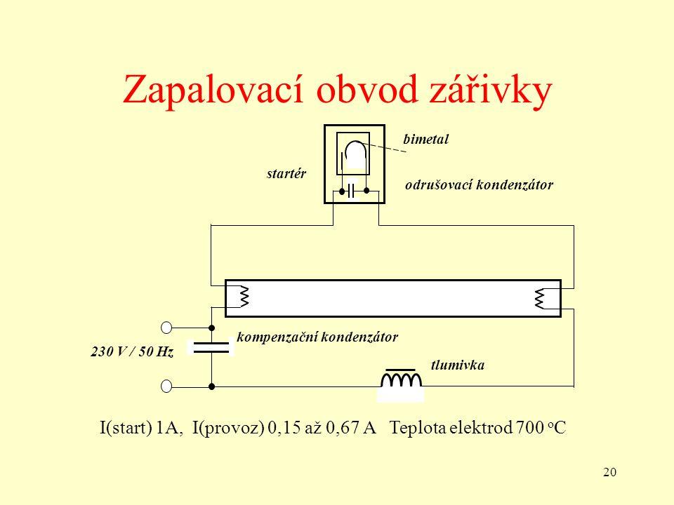 Zapalovací obvod zářivky