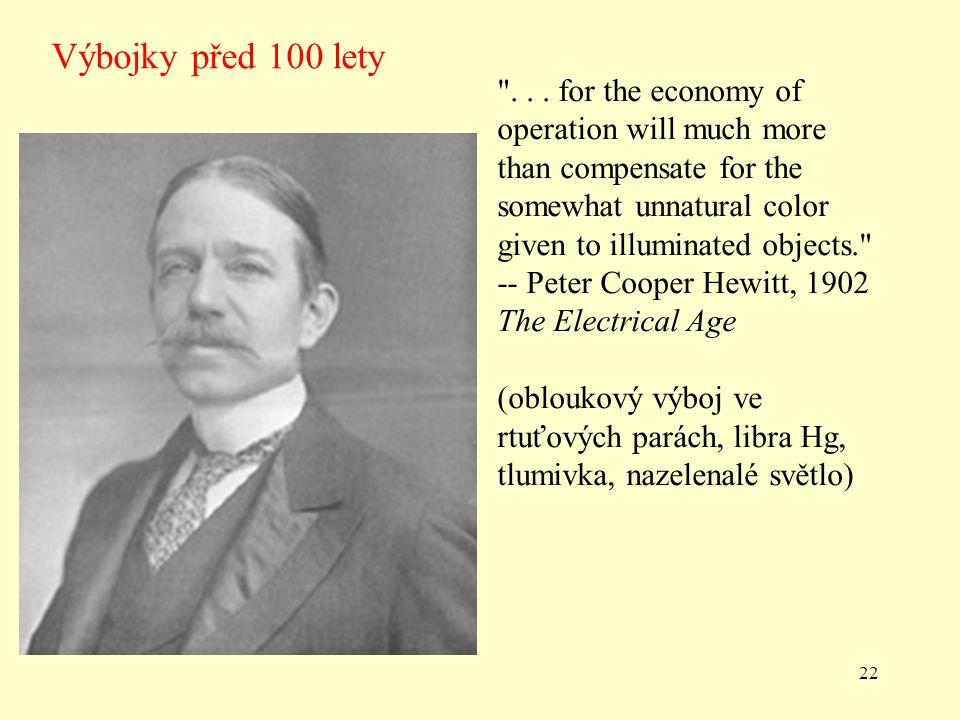 Výbojky před 100 lety