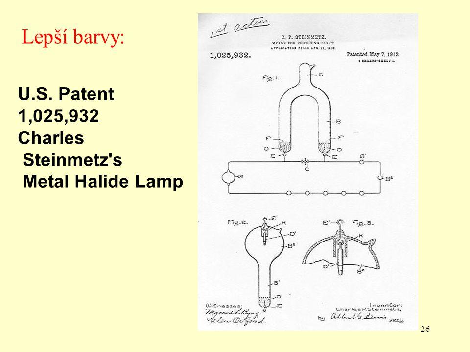 Lepší barvy: U.S. Patent 1,025,932 Charles Steinmetz s