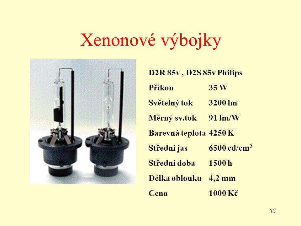 Xenonové výbojky D2R 85v , D2S 85v Philips Příkon 35 W