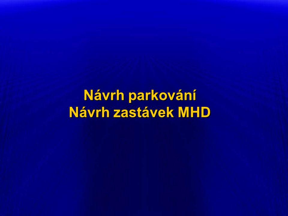 Návrh parkování Návrh zastávek MHD