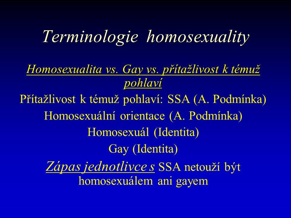 Terminologie homosexuality