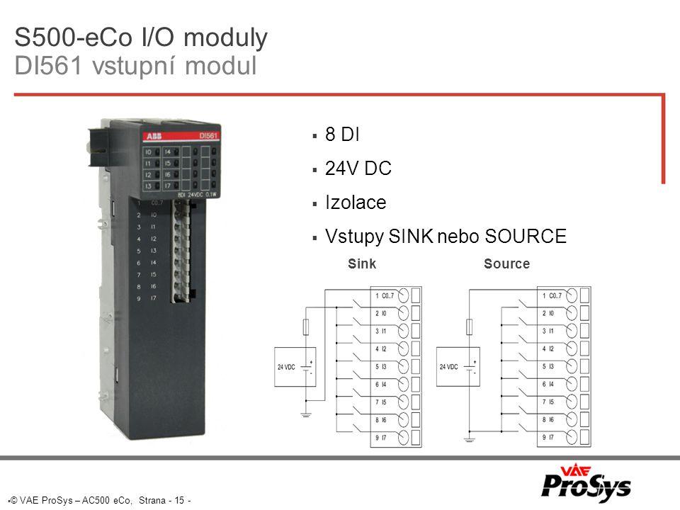 S500-eCo I/O moduly DI561 vstupní modul