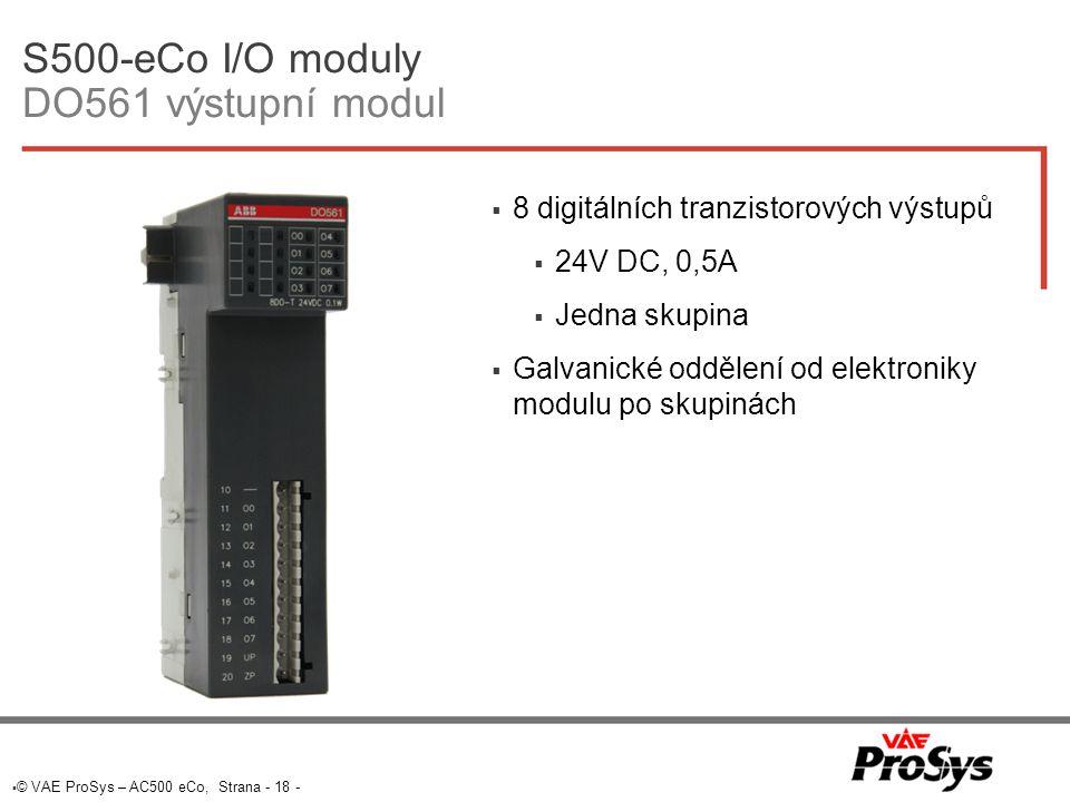 S500-eCo I/O moduly DO561 výstupní modul