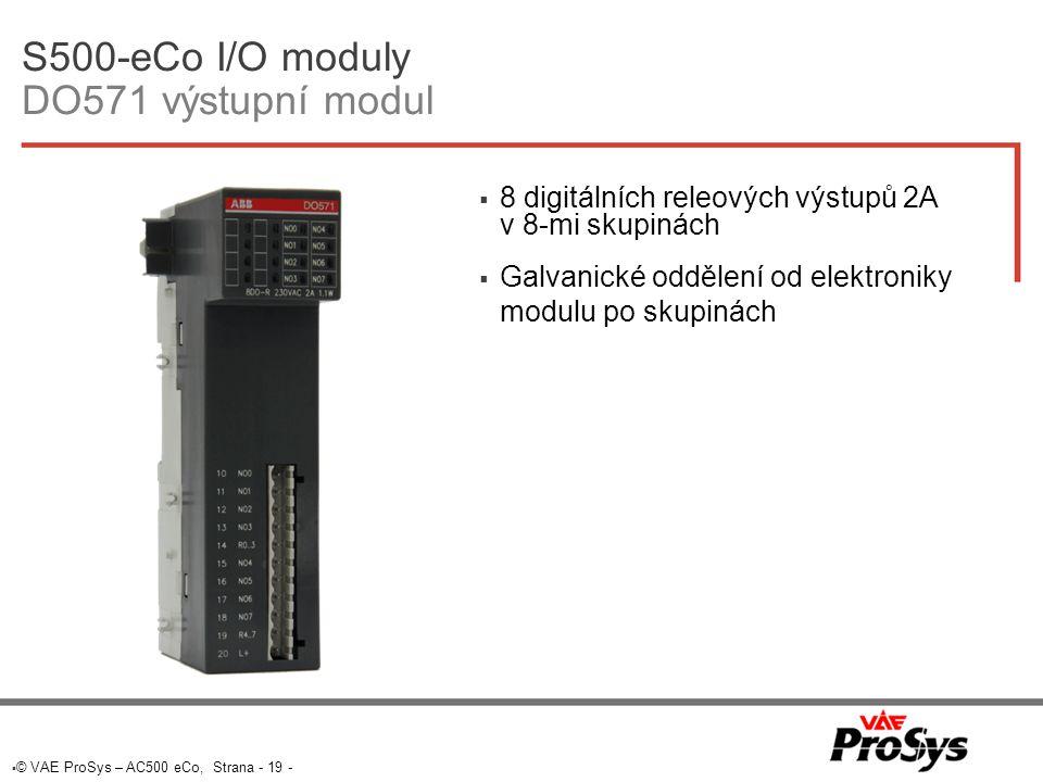 S500-eCo I/O moduly DO571 výstupní modul
