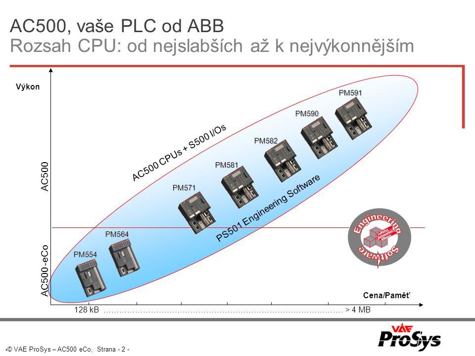 AC500, vaše PLC od ABB Rozsah CPU: od nejslabších až k nejvýkonnějším