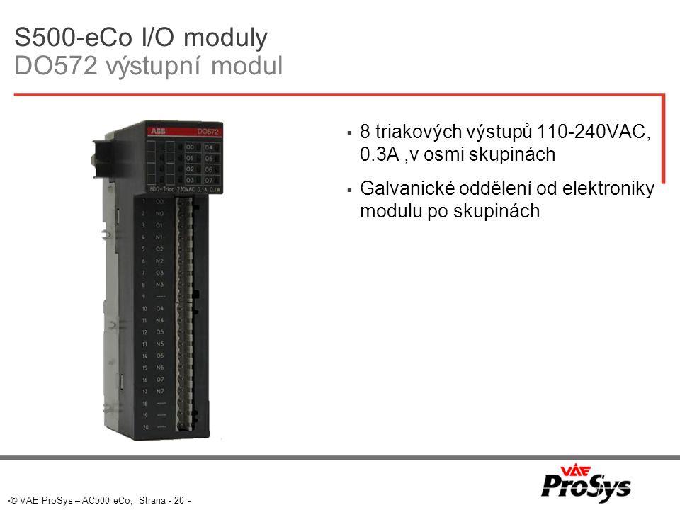S500-eCo I/O moduly DO572 výstupní modul