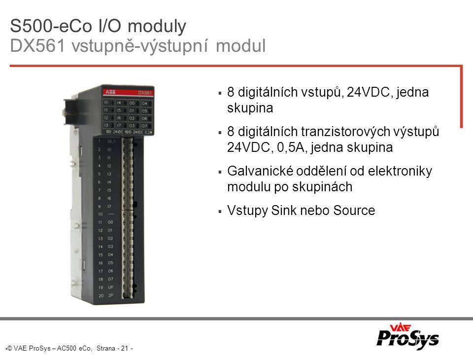 S500-eCo I/O moduly DX561 vstupně-výstupní modul