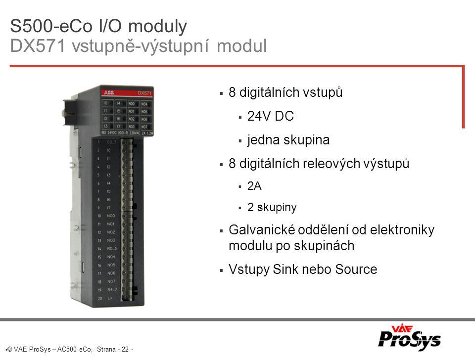 S500-eCo I/O moduly DX571 vstupně-výstupní modul