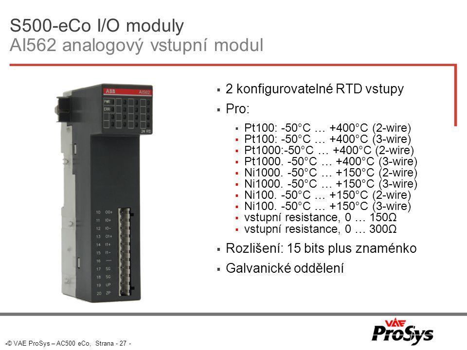 S500-eCo I/O moduly AI562 analogový vstupní modul