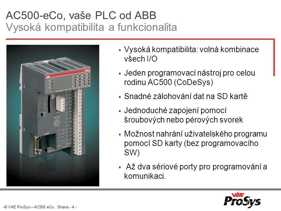 AC500-eCo, vaše PLC od ABB Vysoká kompatibilita a funkcionalita