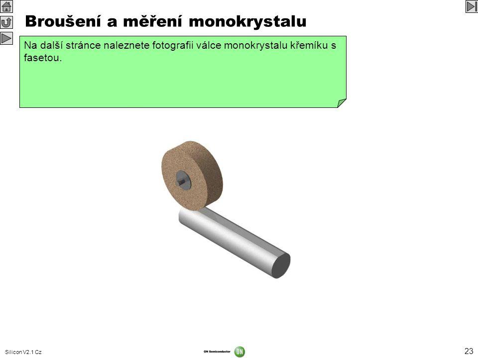 Broušení a měření monokrystalu