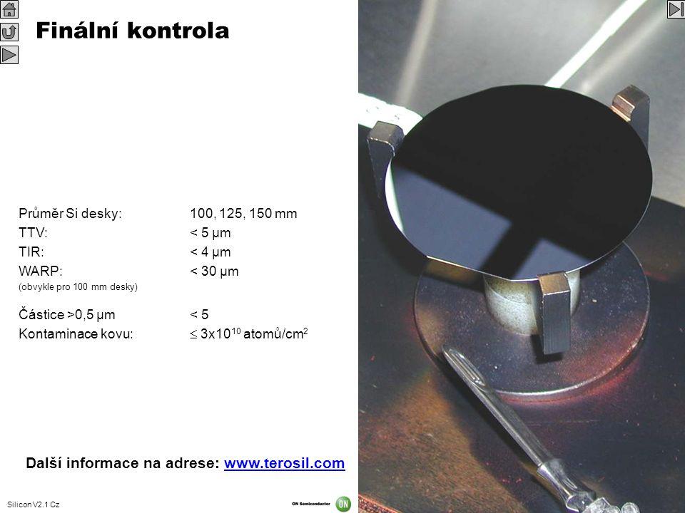 Finální kontrola Další informace na adrese: www.terosil.com