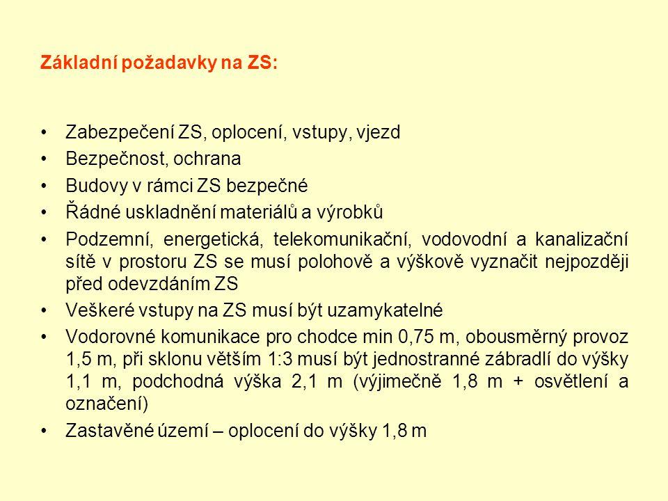 Základní požadavky na ZS: