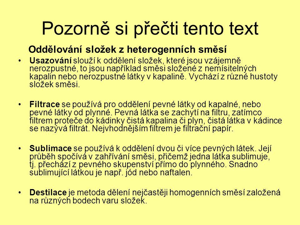 Pozorně si přečti tento text