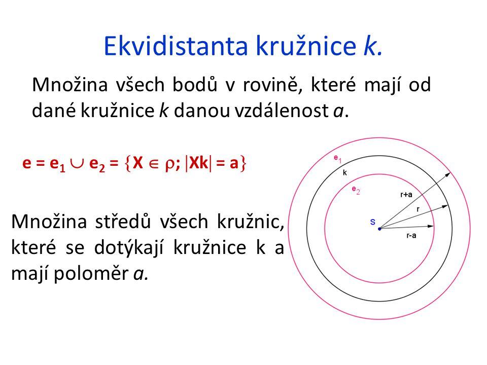 Ekvidistanta kružnice k.