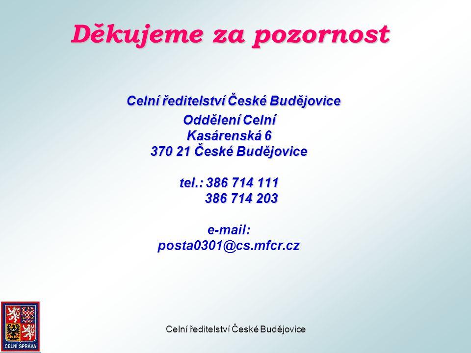 Celní ředitelství České Budějovice