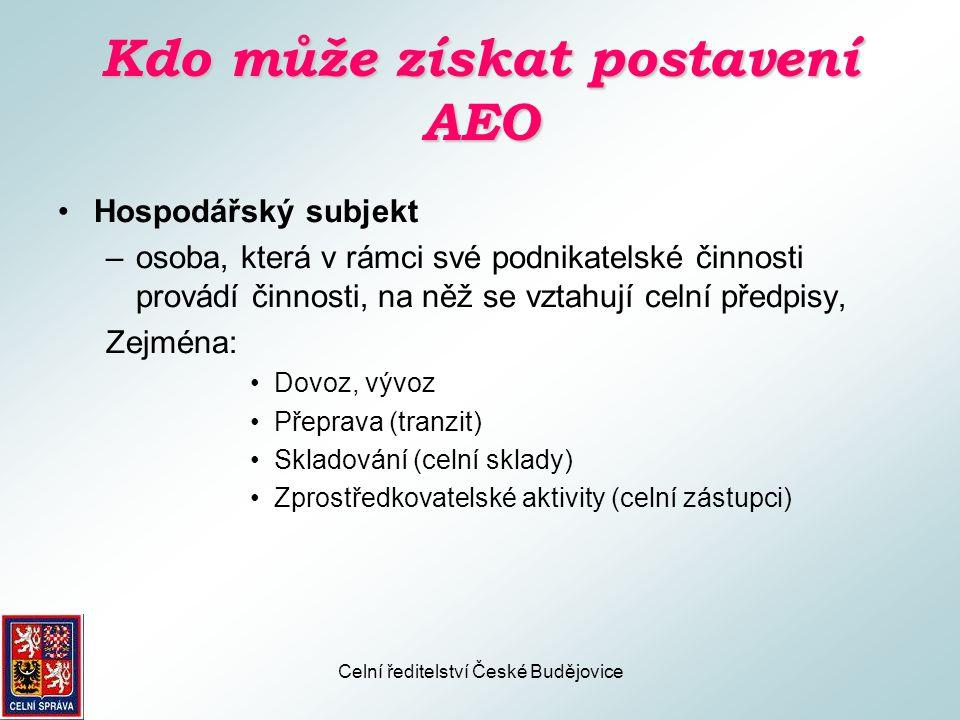 Kdo může získat postavení AEO