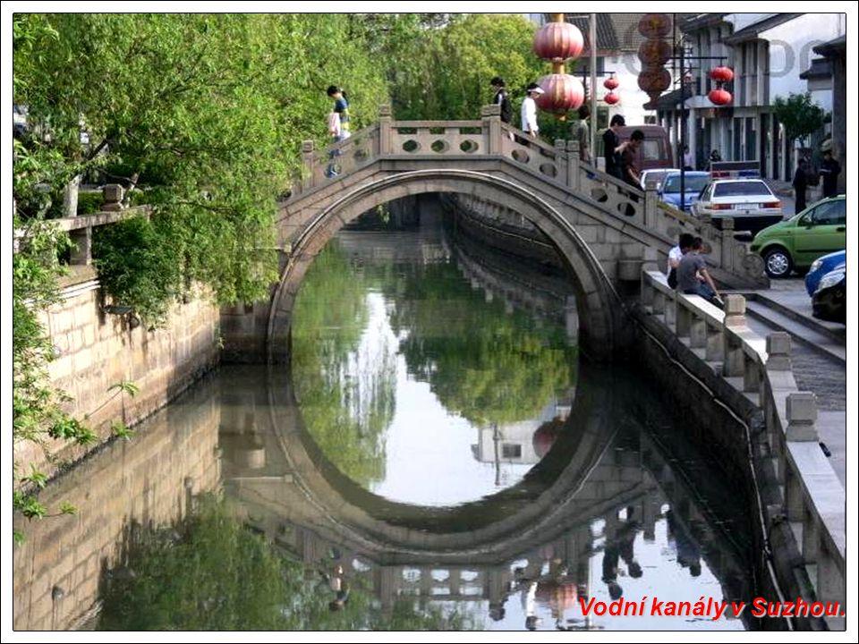 Vodní kanály v Suzhou.