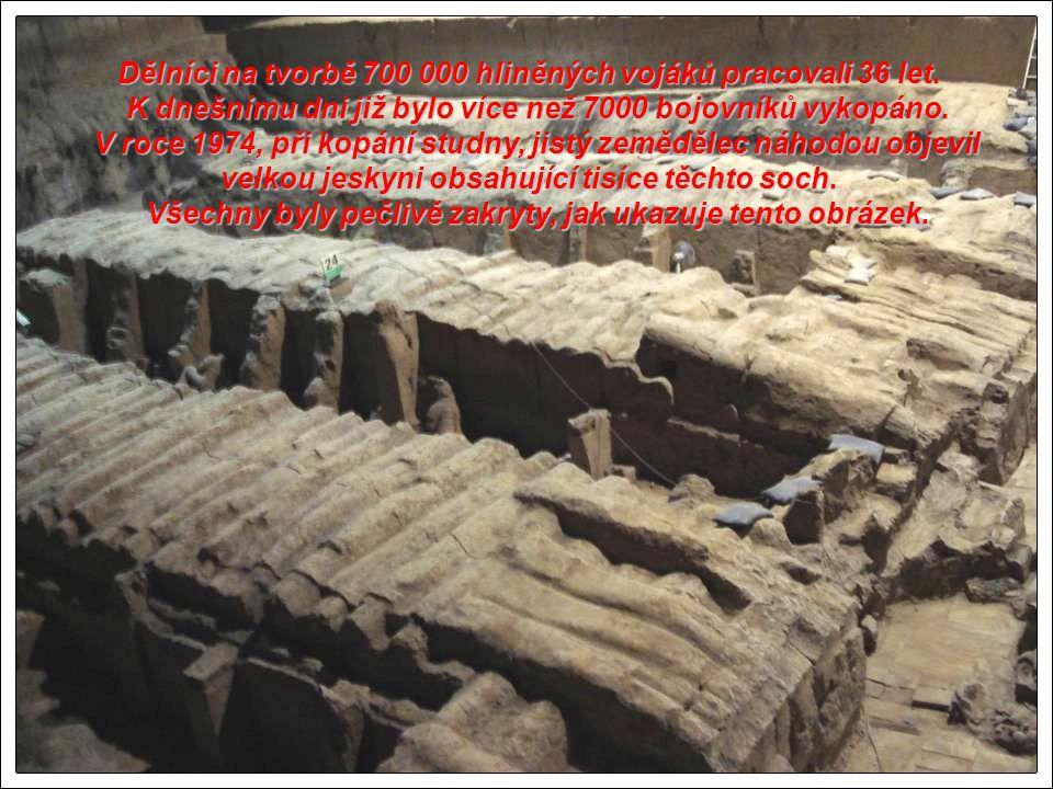 Dělníci na tvorbě 700 000 hliněných vojáků pracovali 36 let