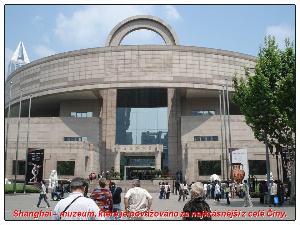 Shanghai – muzeum, které je považováno za nejkrásnější z celé Číny.