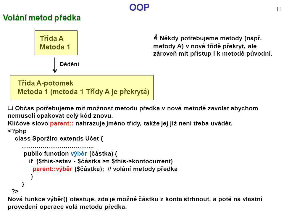 OOP 11 Volání metod předka