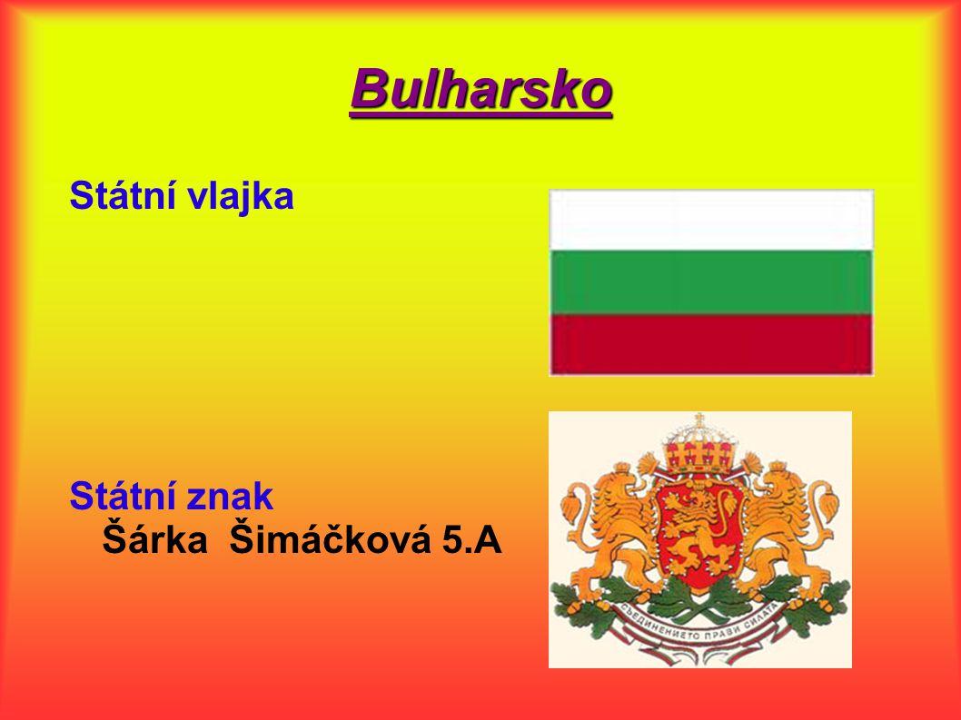 Bulharsko Státní vlajka.