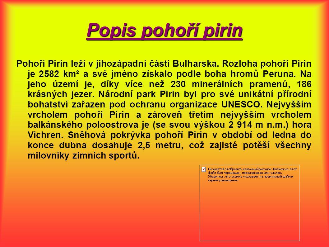 Popis pohoří pirin