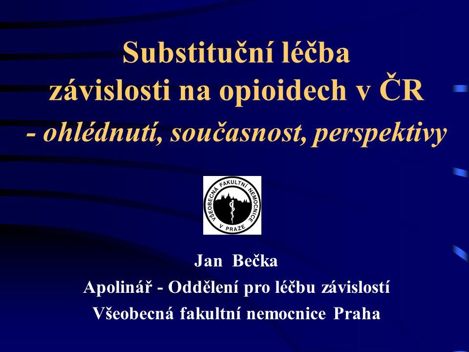 Substituční léčba závislosti na opioidech v ČR - ohlédnutí, současnost, perspektivy