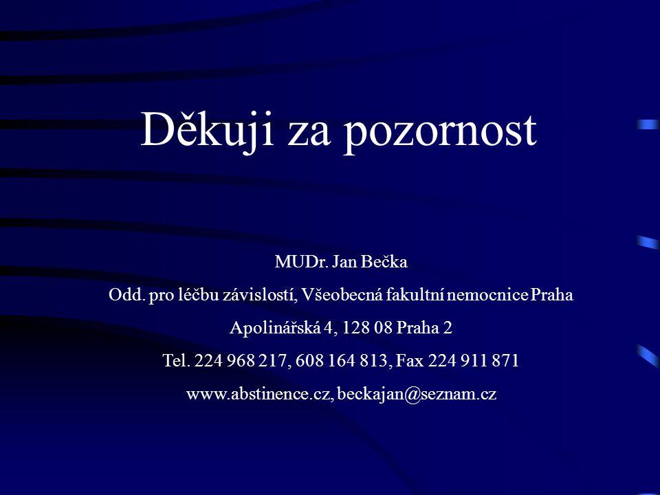 Děkuji za pozornost MUDr. Jan Bečka