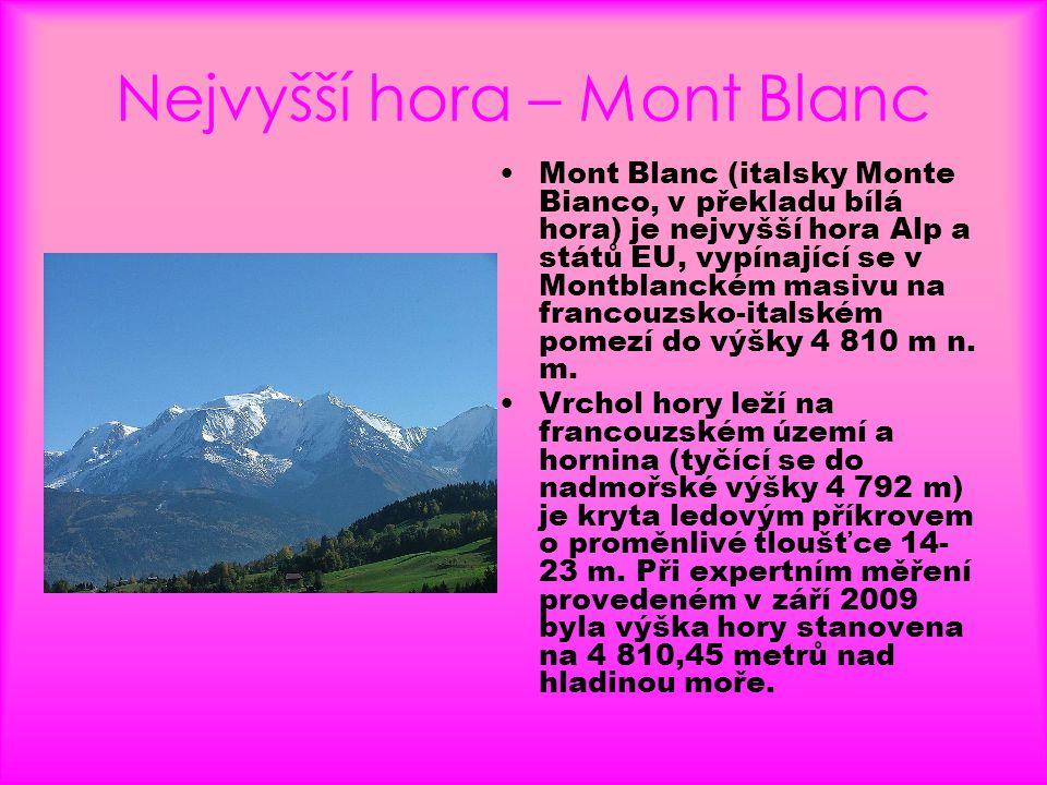 Nejvyšší hora – Mont Blanc