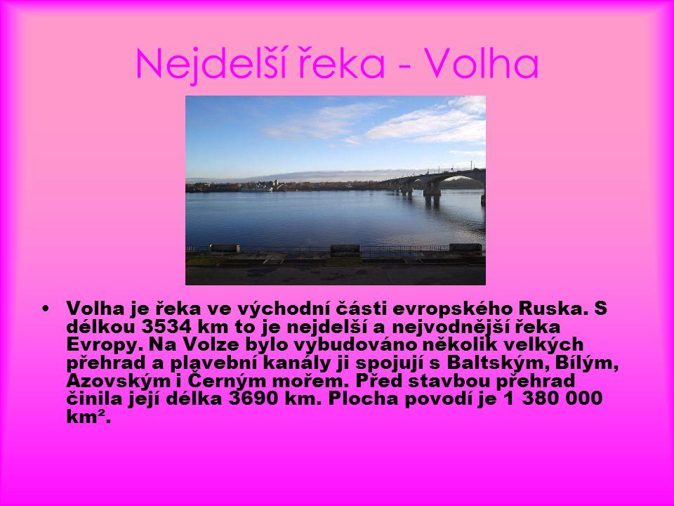 Nejdelší řeka - Volha
