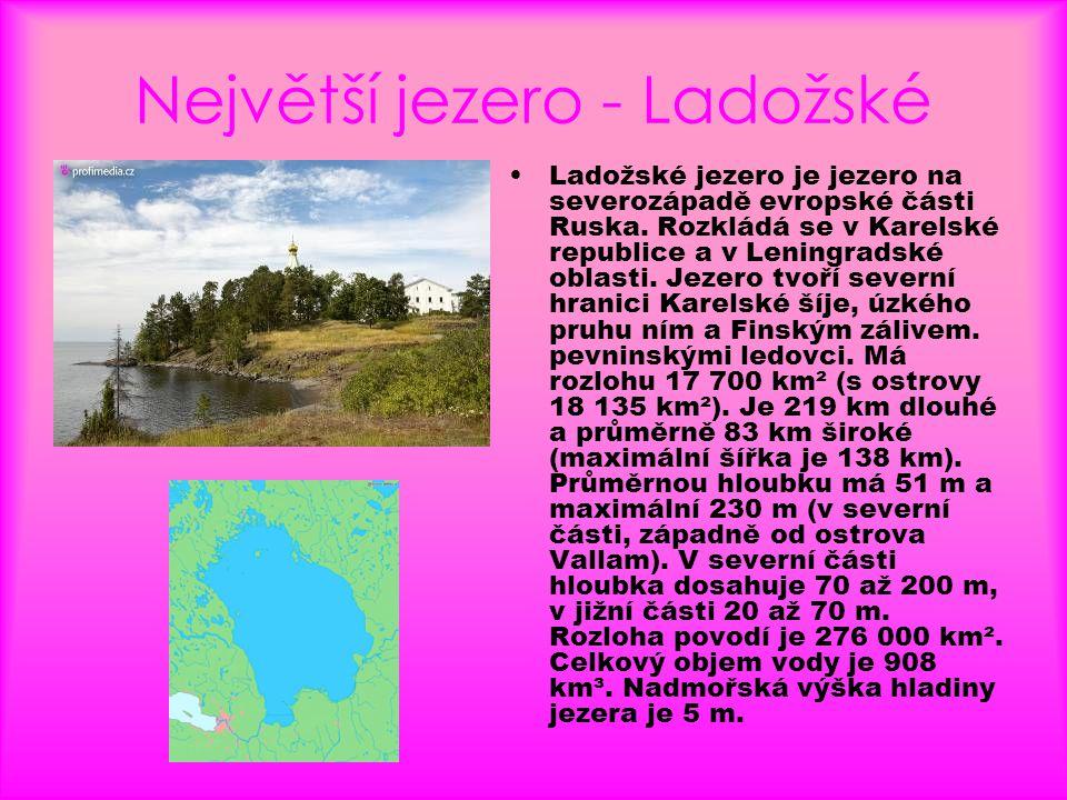 Největší jezero - Ladožské