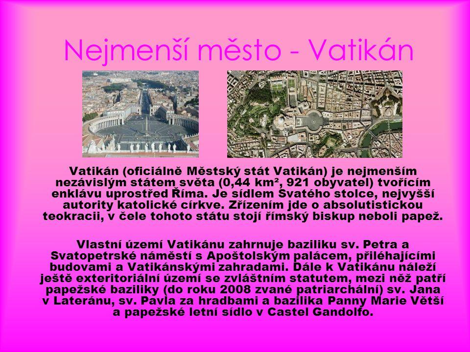 Nejmenší město - Vatikán