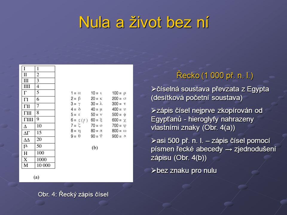 Nula a život bez ní Řecko (1 000 př. n. l.)