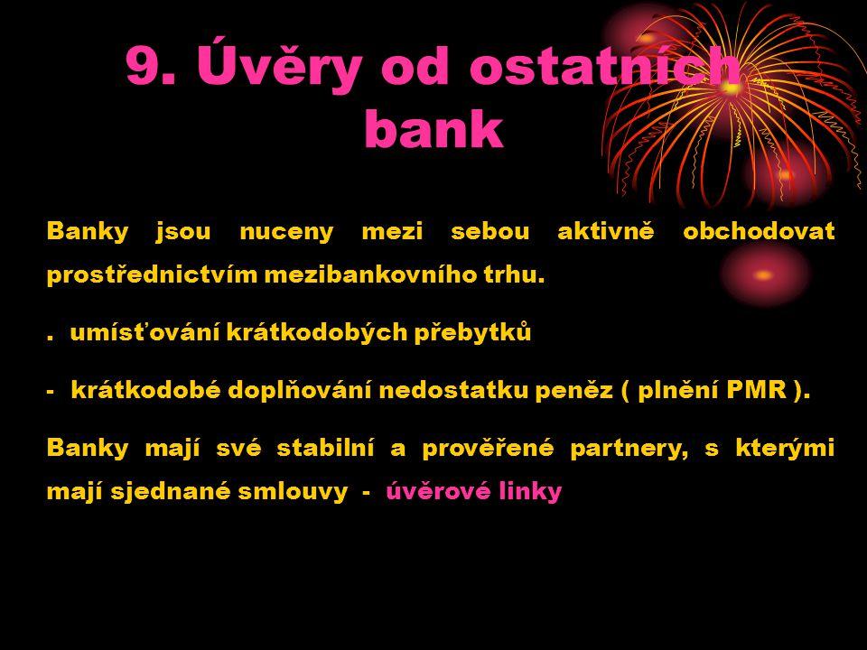 9. Úvěry od ostatních bank