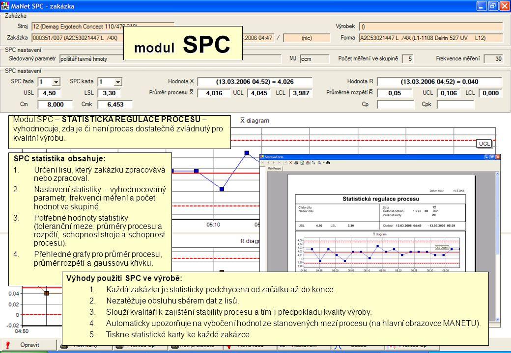 modul SPC Modul SPC – STATISTICKÁ REGULACE PROCESU –