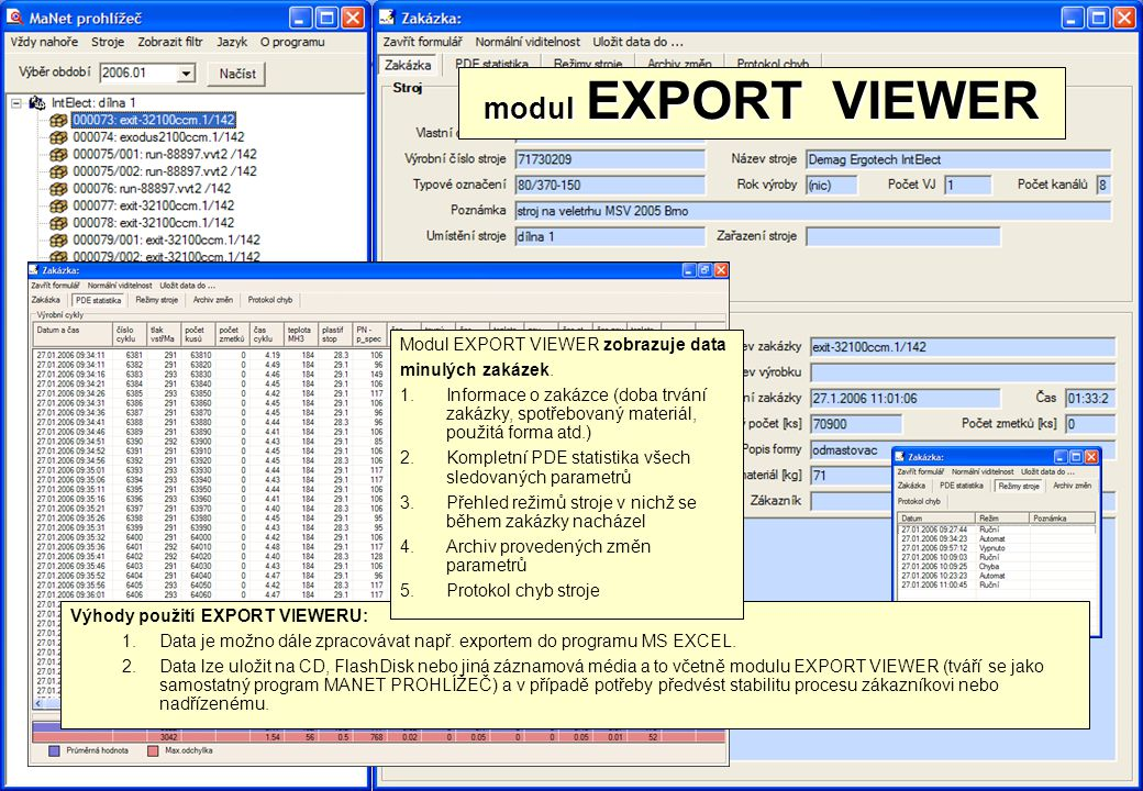 modul EXPORT VIEWER Modul EXPORT VIEWER zobrazuje data