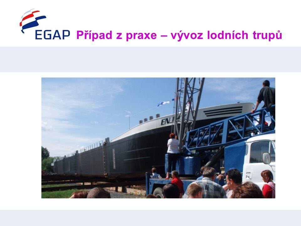Případ z praxe – vývoz lodních trupů