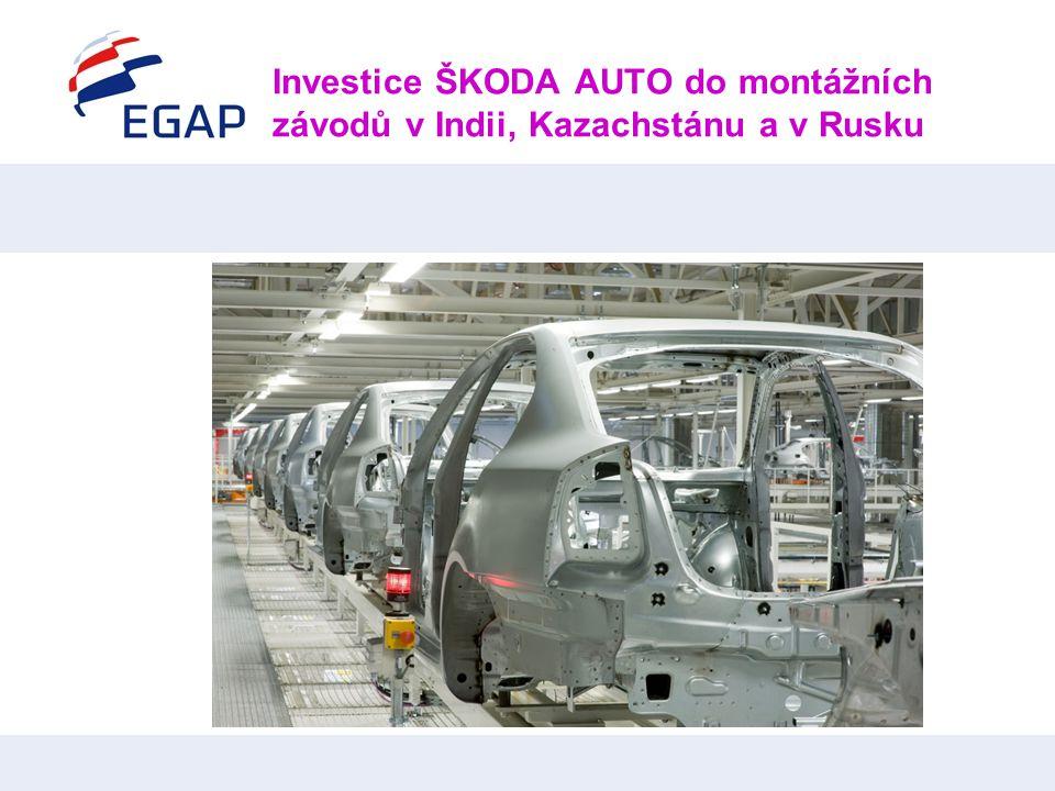 Investice ŠKODA AUTO do montážních závodů v Indii, Kazachstánu a v Rusku