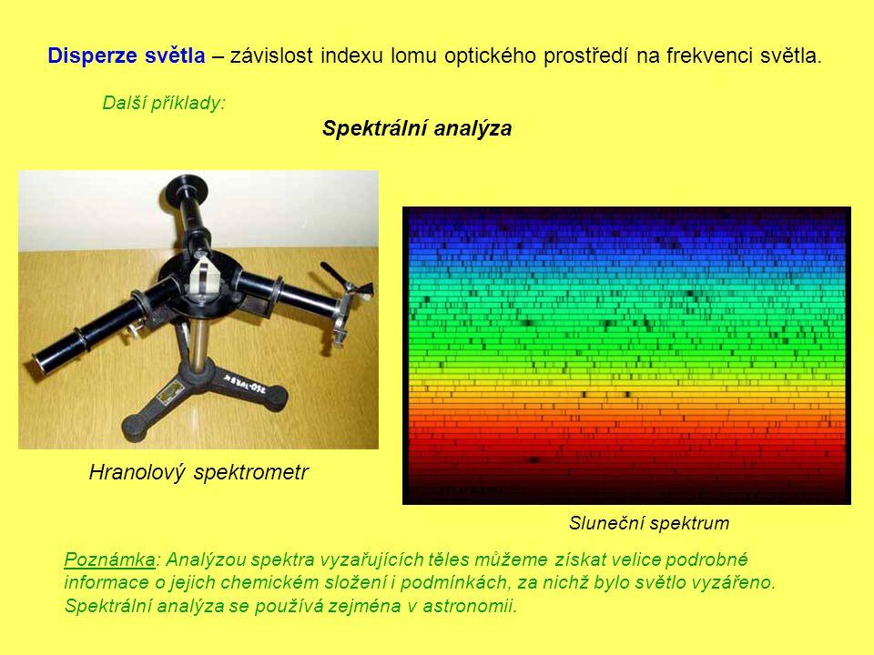 Hranolový spektrometr