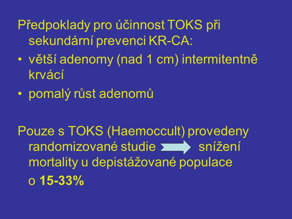 Předpoklady pro účinnost TOKS při sekundární prevenci KR-CA: