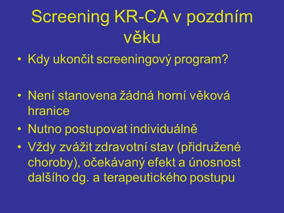 Screening KR-CA v pozdním věku
