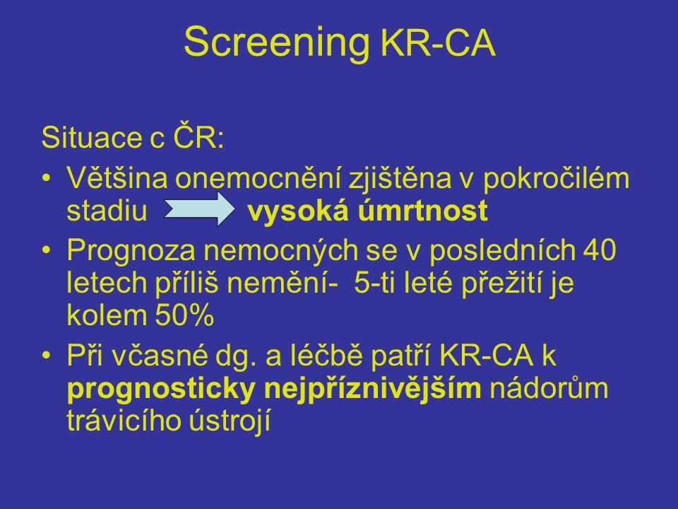 Screening KR-CA Situace c ČR: