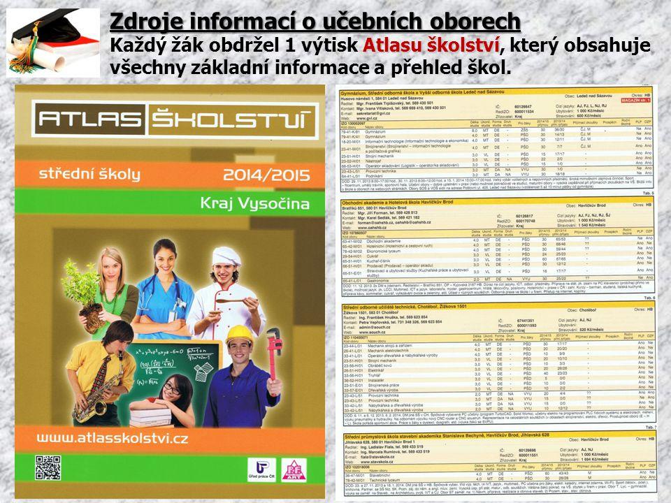 Zdroje informací o učebních oborech